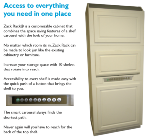 Learn more Zack Rack handicap cabinet today!